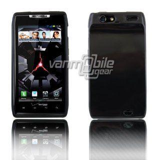 VMG For Motorola Droid RAZR XT910 XT912 (Original, 1st Gen) TPU Cell Phone Skin Case Cover   BLACK [by VanMobileGear] *** Slim Fit, Protects Against Drops ***