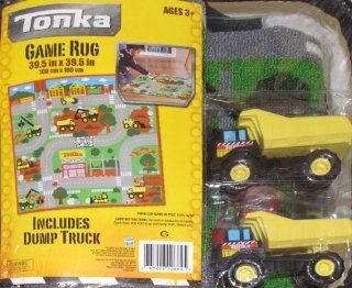 Tonka Game Rug w/ 1 Mighty Dump Truck Toys & Games