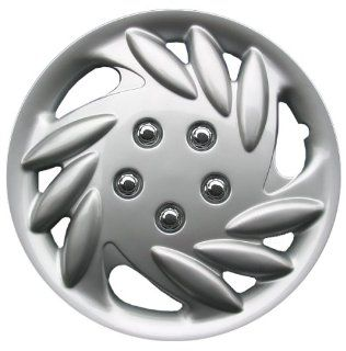 """Drive Accessories KT891 14S/L 14"""" Silver and Lacquer ABS Plastic Wheel Cover Replica Hubcaps, (Set of 4): Automotive"""