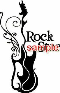 MUS906 ROCK STAR GUITAR VINYL DECAL STICKER : Automobiles : Everything Else