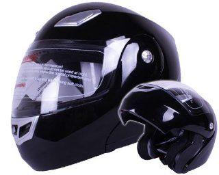 Modular Flip up Motorcycle Helmet Gloss Black DOT #936 (XL) Automotive