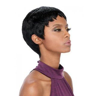 Outre Premium Duby Human Hair Wig   PIXIE (#1B)  Hair Replacement Wigs  Beauty
