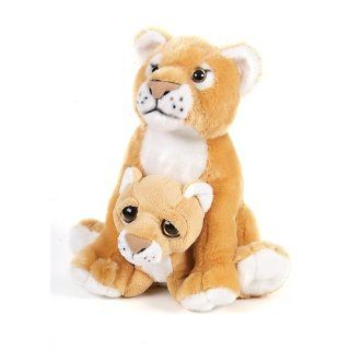 """10.5"""" Lioness With Baby Plush Stuffed Animal Toy Toys & Games"""
