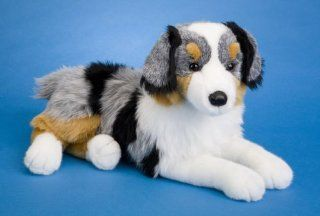 Australian Shepherd Dog Plush Toy: Toys & Games