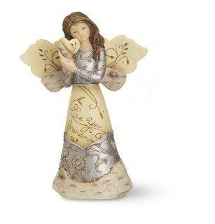 Elements Love You Grandma Angel Figurine by Pavilion, Holding Heart, 5 1/2 Inch   Grandma Gifts
