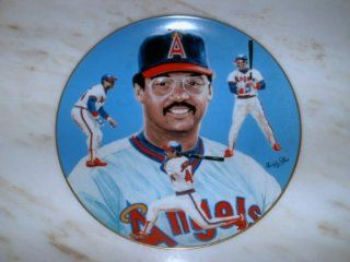 """REGGIE JACKSON #44   """"Mr. October""""   (Baseball) Collector Plate   (#2137/ 10, 000) in California Angels Uniform   UNSIGNED  Sports Related Collectible Photomints  Sports & Outdoors"""