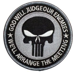 Special Forces Punisher Seal ODA Navy Patch(SILVER) 4x4 inches  Other Products