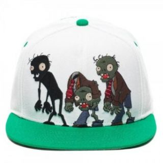 Plants Vs Zombies Group Zombies White Snapback Cap Hat Clothing