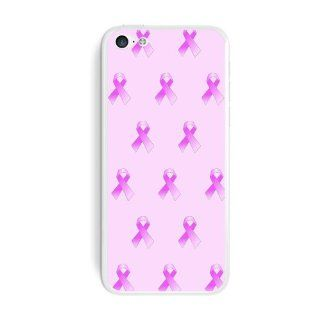 Graphics and More Breast Cancer Awareness Ribbons Protective Skin Sticker Case for Apple iPhone 5C   Set of 2   Non Retail Packaging   Opaque: Cell Phones & Accessories
