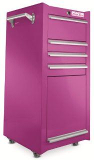 The Original Pink Box PB1804R 18 Inch 4 Drawer 18G Steel Rolling Tool/Salon Cart, Pink   Tool Chests