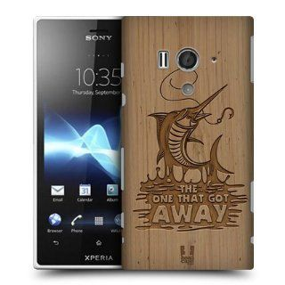 Head Case Designs Marlin Wood Carvings Hard Back Case Cover For Sony Xperia acro S LT26W: Cell Phones & Accessories