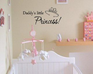 Daddy's little princessVinyl wall art Inspirational quotes and saying home decor decal sticker