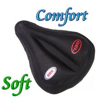 Soft Gel Cushion Bike Bicycle Seat Cover Saddle Pad  Sports & Outdoors