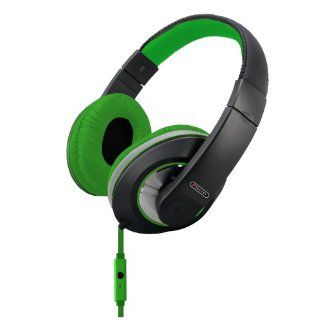 Sentry Industries Inc. HM962 Deep Bass Stereo Headphones with Mic, Green Electronics