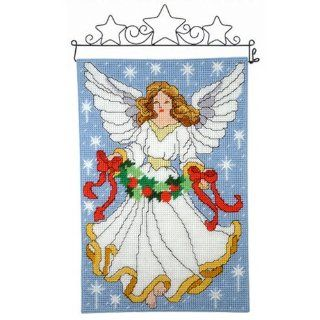 Craftways Christmas Angel Wall Hanging Plastic Canvas Kit   Home And Garden Products