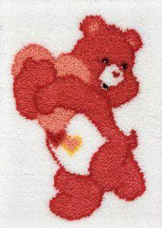 Care Bear Latch Hook Kit 20 Inch X27 Inch  Love A Lot Bear/Pink