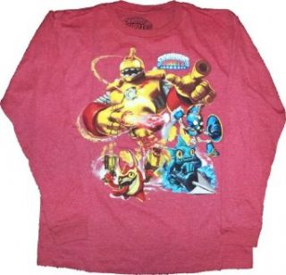 Skylanders Giants Boys Long Sleeve Red Shirt (Extra Large 14/16) Novelty T Shirts Clothing