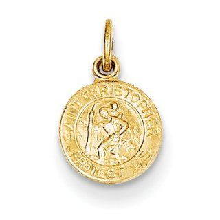14k Saint Christopher Medal Charm, Best Quality Free Gift Box Satisfaction Guaranteed: Pendant Necklaces: Jewelry