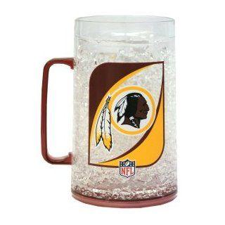 Washington Redskins NFL Monster Size Crystal Freezer Mug  Redskin Cups  Sports & Outdoors