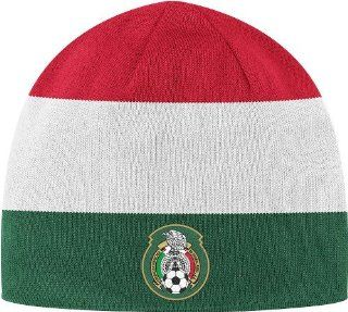 Mexico National Soccer Futbol Team Adidas Knit Hat   Red/White/Green : Sports Related Merchandise : Sports & Outdoors