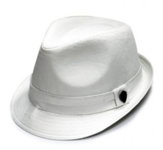 City Hunter Men's Cotton Fedora Hat at  Men�s Clothing store: Fedoras For Men