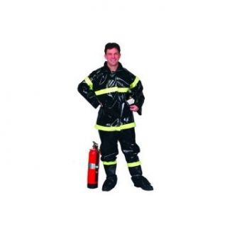 Fireman Hero (Black) Adult Costume Size Standard: Clothing