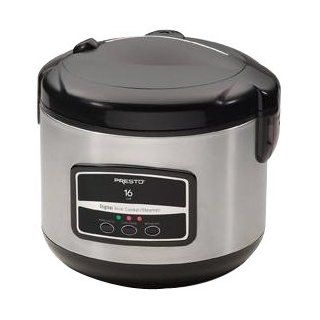 Presto 16 Cup Digital Stainless Steel Rice Cooker/Steamer   Stainless Steel by NATIONAL PRESTO INDISTRIES