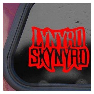 Lynyrd Skynyrd Rock Band Logo Red Decal Sticker Die cut Red Decal Sticker   Decorative Wall Appliques
