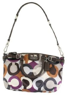 Coach Madison Graphic Signature Sophia Convertiable Satchel Bag Purse Tote 18636 Multi Top Handle Handbags Clothing