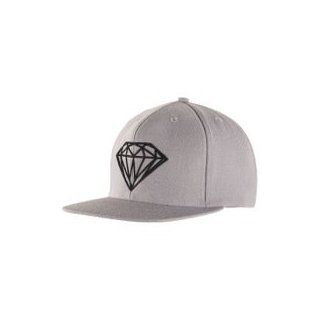 Diamond Supply Co Brilliant Snapback   Men's ( Grey/Charcoal ) at  Men�s Clothing store: Baseball Caps