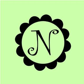 Customized Monogram Wall Decal Sticker with Beautiful Flower Frame Vinyl Decals Look Almost Painted On   Wall Decor Stickers