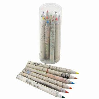 """Recycled Paper Assorted Colored Pencils, 12 Pack, Approximately 3.5""""L"""