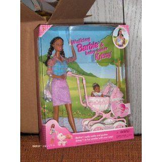 Barbie   Walking Barbie & New Baby Sister krissy Doll   1999 Mattel Toys & Games