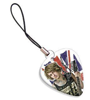 Ben Bruce Asking Alexandria Guitar Pick Mobile Bag Zip Charm ( Flag Design ) Musical Instruments