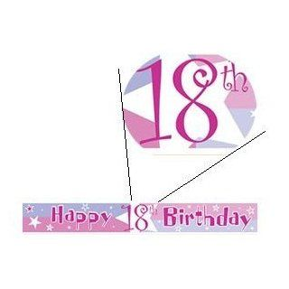 18th Birthday Banner   Life Begins Happy 18th Birthday Banner   Other Matching Party Products   Birthday Shimmer   Pink: Everything Else