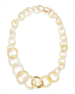 Tory Burch Painted Edge Resin Link Necklace