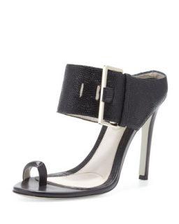 Maison Martin Margiela Leather High Heel Sandal, Black