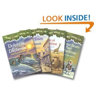 Magic Tree House Boxed Set, Books 9 12: Dolphins at Daybreak, Ghost Town at Sundown, Lions at Lunchtime, and Polar Bears Past Bedtime: Mary Pope Osborne, Sal Murdocca: 9780375825538: Books