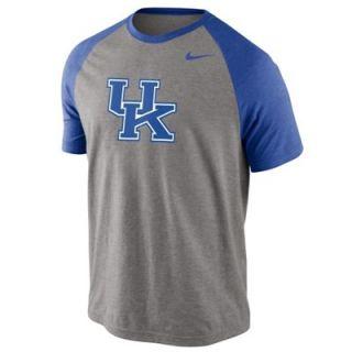 Nike Kentucky Wildcats Big Play Raglan T Shirt   Ash/Royal Blue