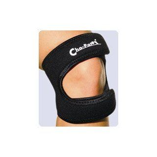 "Chopat Dual Action Knee Strap, Large 16""   18"" Strap applies pressure upon the patellar tendon below the kneecap to stabilize and tighten up the kneecap mechanism, which improves patellar tracking and elevation, and reduces patellar subluxation:"