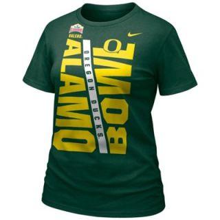 Nike Oregon Ducks 2014 Alamo Bowl Bound Ladies T Shirt   Green