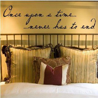 Once upon a time never has to end Vinyl Lettering Wall Decal Quote Sticker Art Applique Wall Saying   Decorative Wall Appliques