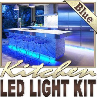 16.4' ft Blue Kitchen Valance Microwave LED Backlight Night Light On/Off Switch Control Kit   Under Counters, Microwave Area, Glass Cabinets, Floor Lighting, Above/Below Cabinets LED Reading Light Strip Night Light Lamp Bulb Accent Lights SMD3528 Water