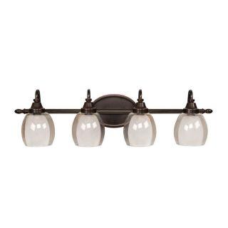 allen + roth 4 Light Bronze Bathroom Vanity Light