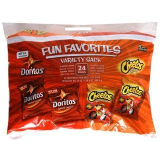 Frito Lay Cheetos & Doritos Variety Pack, 24 Count Sacks (Pack of 6) : Chips : Grocery & Gourmet Food