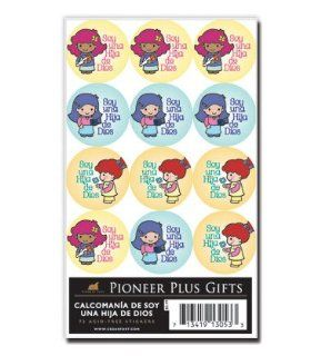 Spanish Stickers, LDS Stickers, I Am a Child of God, Girl  This Design Is in Spanish. Each Package Contains 72 Coordinating Stickers  Great for Scrap booking, Card Making and Designing, and Other Craft Projects  Primary, Young Women, Young Men, Relief Soci