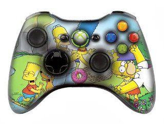 "Xbox 360 controller (modded), "" Simpsons "" skin , Three aditional modes (10 Modes Dual Rapid Fire + Fast Aim Mode (quick scope) + Central Button Light) Wireless Original Microsoft controller ,works Best with MW1.2.3 , COD , BATTLEFIELD , HALO.,Co"