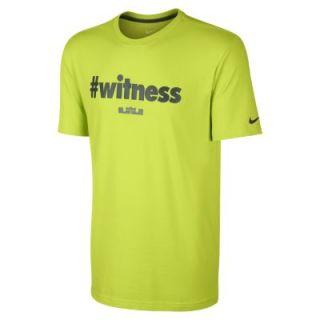 Nike LeBron #witness Mens T Shirt   Fierce Green