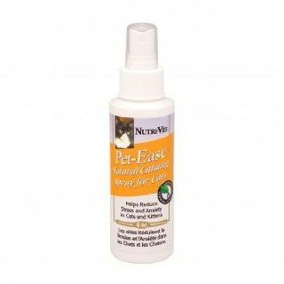 Feline Behavior Modification Spray   Pet Ease Natural Calming Spray for Cats Provides a Soothing Scent That Offers Relief During Times of High Stress or Even Day to day Living   4 Ounces   Made in USA : Pet Relaxants : Pet Supplies