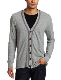Calvin Klein Jeans Men's Textured End On End Cardigan, Grey Heather, Medium at  Men�s Clothing store